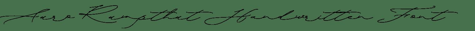 Auro Rumpthut Handwritten Font