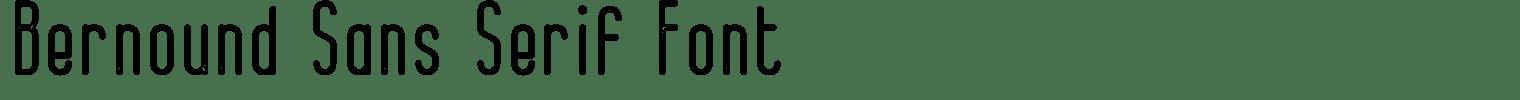 Bernound Sans Serif Font