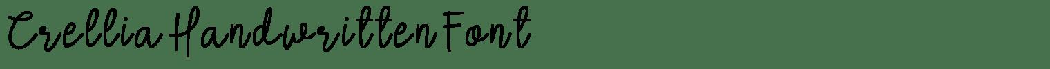 Crellia Handwritten Font