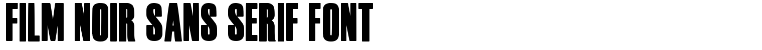 Film Noir Sans Serif Font