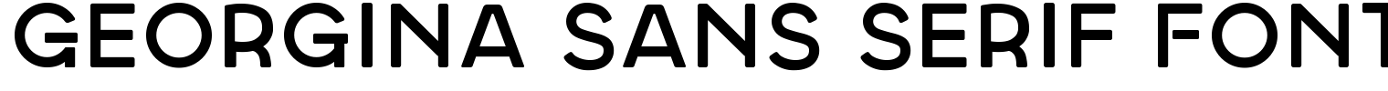 Georgina Sans Serif Font