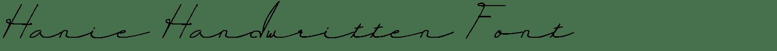 Hanie Handwritten Font
