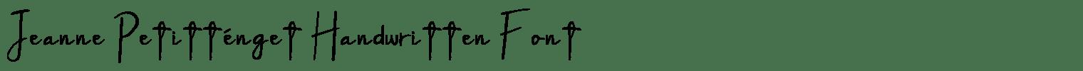 Jeanne Petitténget Handwritten Font