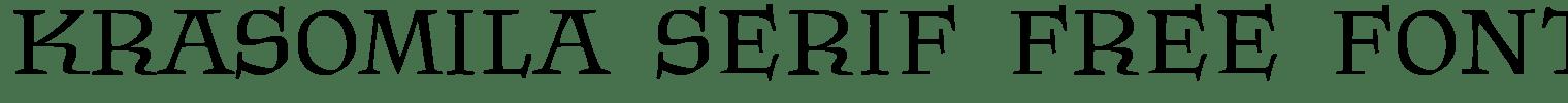 Krasomila Serif Free Font