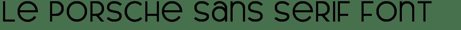 Le Porsche Sans Serif Font
