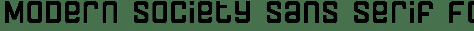 Modern Society Sans Serif Font