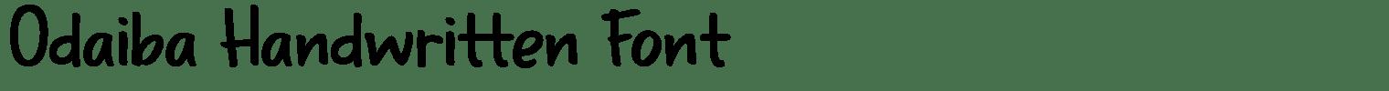 Odaiba Handwritten Font