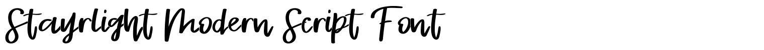 Stayrlight Modern Script Font