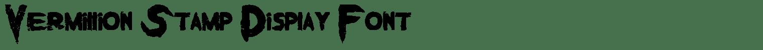 Vermillion Stamp Display Font