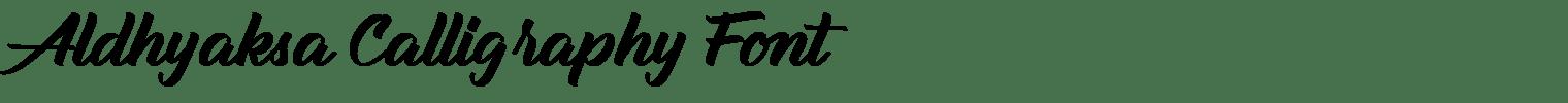Aldhyaksa Calligraphy Font