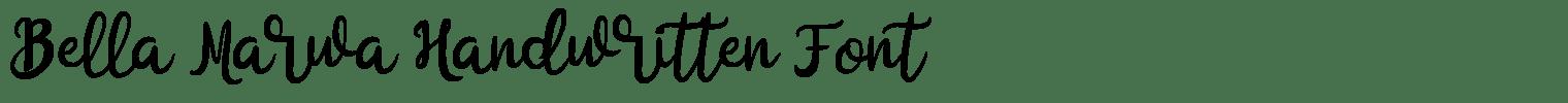 Bella Marwa Handwritten Font