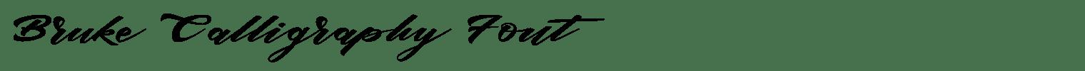 Bruke Calligraphy Font