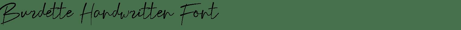 Burdette Handwritten Font