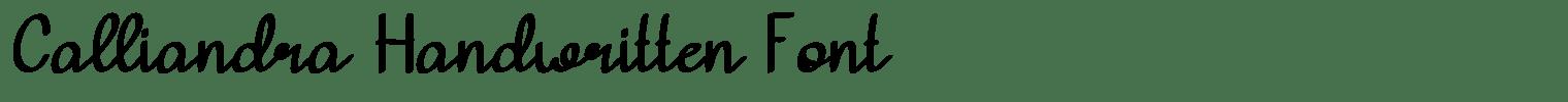 Calliandra Handwritten Font