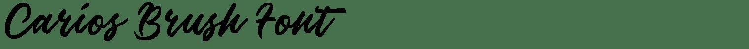 Carios Brush Font
