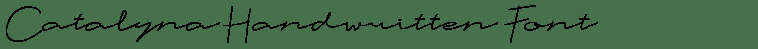 Catalyna Handwritten Font