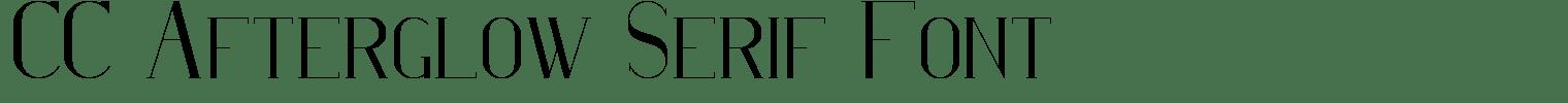 CC Afterglow Serif Font