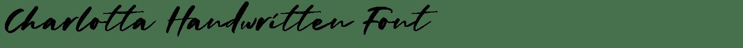 Charlotta Handwritten Font