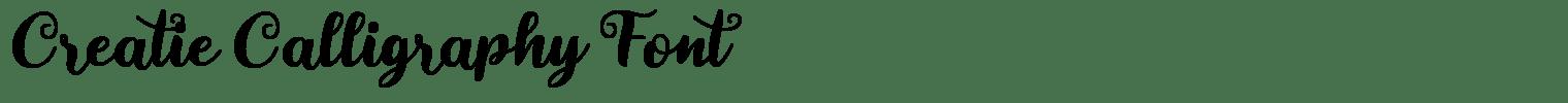 Creatie Calligraphy Font