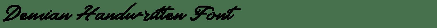 Demian Handwritten Font