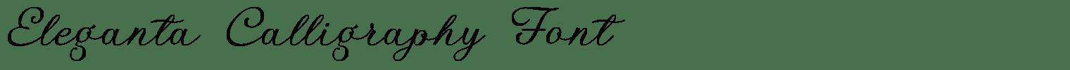 Eleganta Calligraphy Font