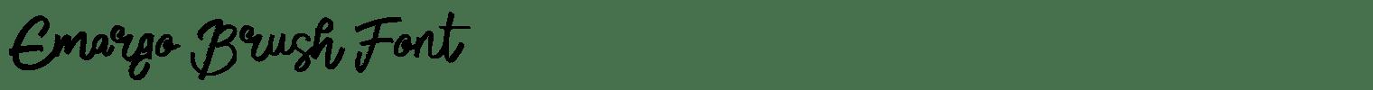 Emargo Brush Font