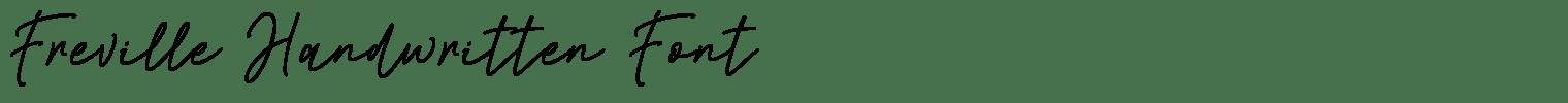 Freville Handwritten Font