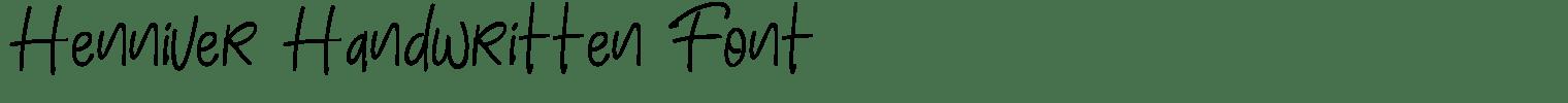 Henniver Handwritten Font