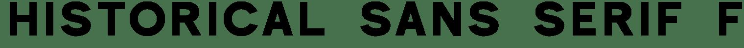Historical Sans Serif Font