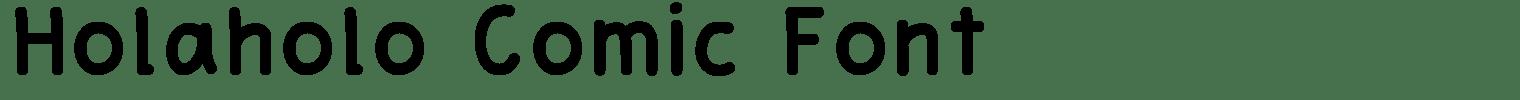 Holaholo Comic Font