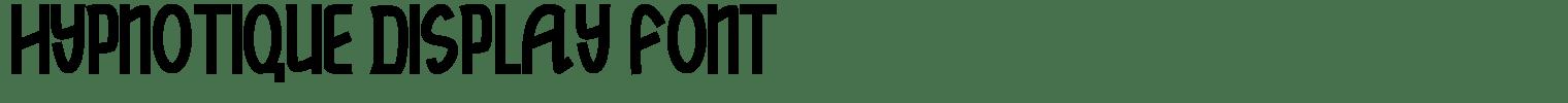 Hypnotique Display Font