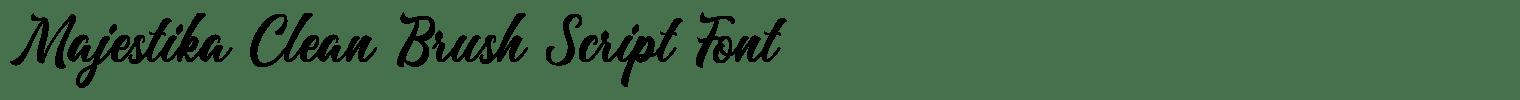 Majestika Clean Brush Script Font