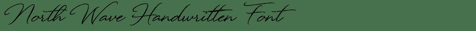 North Wave Handwritten Font