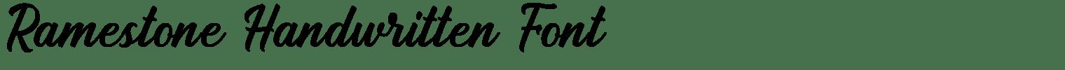 Ramestone Handwritten Font
