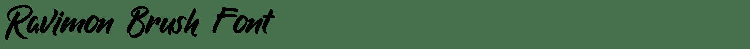 Ravimon Brush Font