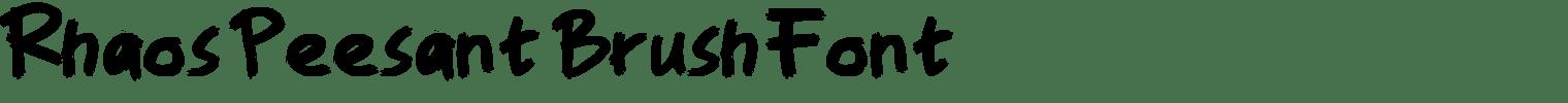 Rhaos Peesant Brush Font