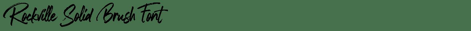 Rockville Solid Brush Font