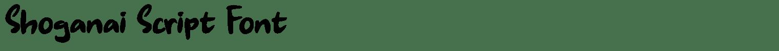 Shoganai Script Font