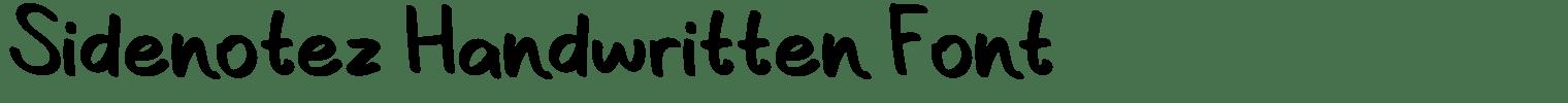 Sidenotez Handwritten Font