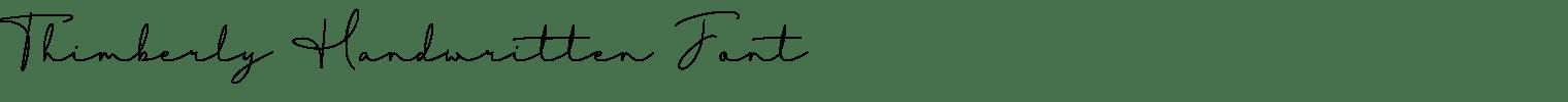 Thimberly Handwritten Font