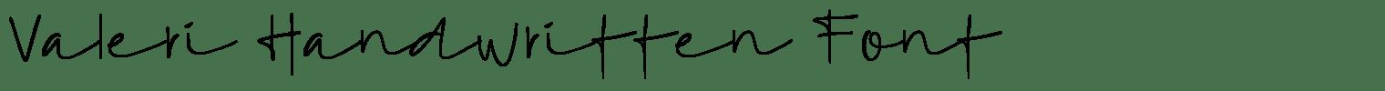 Valeri Handwritten Font