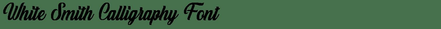 White Smith Calligraphy Font
