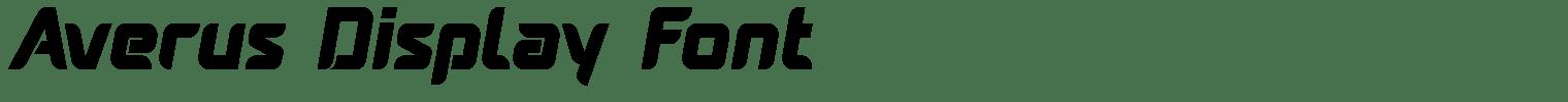 Averus Display Font