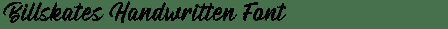 Billskates Handwritten Font
