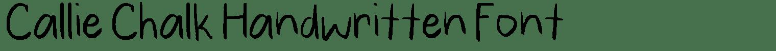 Callie Chalk Handwritten Font