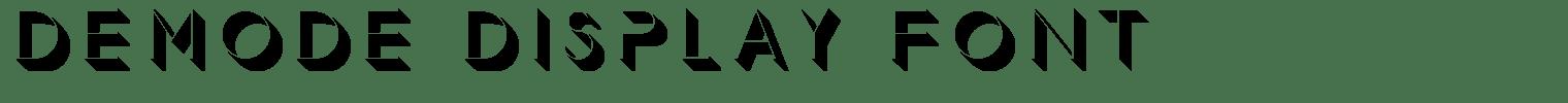 Demode Display Font