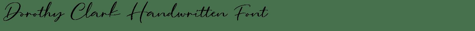Dorothy Clark Handwritten Font