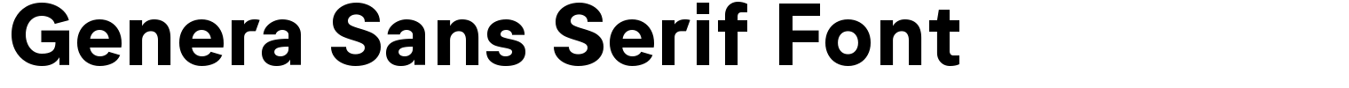 Genera Sans Serif Font
