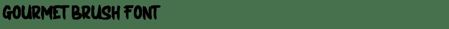 GOURMET Brush Font
