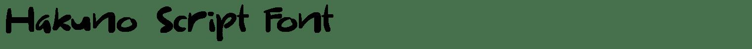 Hakuno Script Font